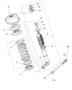 jaguar xj6 shock diagram